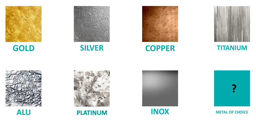 With plasma metal coating, all metals can be used for yarn coating.