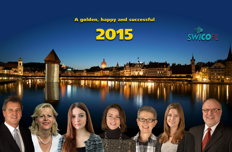 The Swicofil Team wishes you a golden, happy and successful 2015.