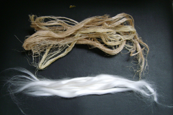 banana fibers and tops