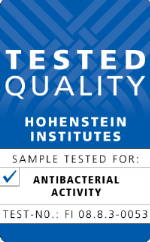 Bluewish has been tested by Hohenstein Institute for its anti-bacteria performance