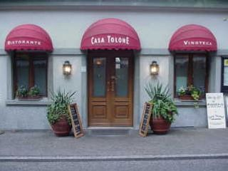 Entrance to Ristorante Casa Tolone, Lucerne - a great place for food and wine