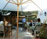 Garden of Ristorante Casa Tolone, Lucerne - a great place for food and wine