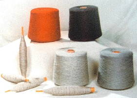 spools of cashmere yarn