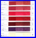 Decora shade card - polyester spundyed dopedyed Setila POY FDY and textured