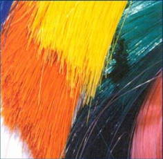 color fast products with spundyed HDPE monofilaments