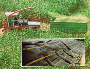 High density (HDPE) and high tenacity (GRET) polyethylene monofilament yarns from Esbjerg Thermoplast to produce silage protection tapes and fabrics