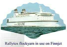 Flockgarn used in Finnjet