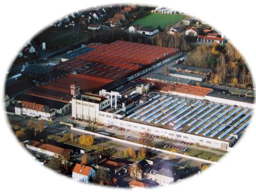 Kulmbacher Spinnerei Mainleus Germany - aerial picture of plant