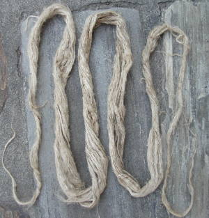 natural nettle fiber processed in raw (also called: puwa)