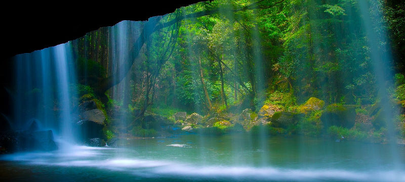 negative ion emitting fibers to enhance your health and well being like a wonderful waterfall