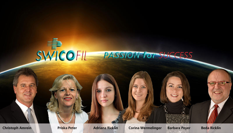 The Passion for Success Team of Swicofil - your global partner for yarn and fiber specialities and innovative solutions