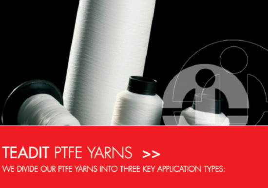 Teadit PTFE weaving, sewing and hygienic yarns