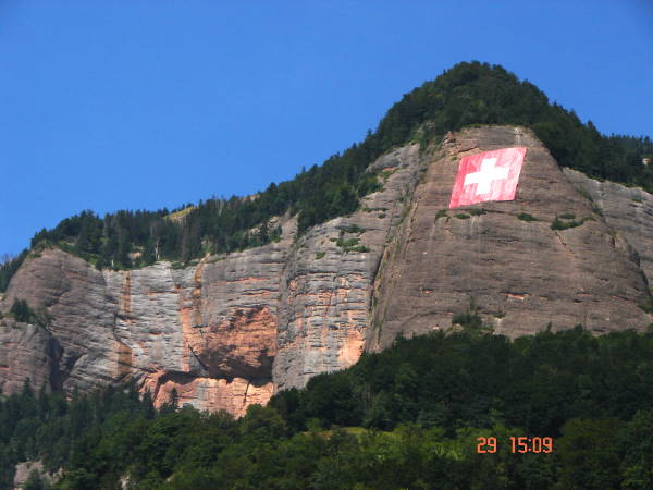Swiss flag made from Tersuisse Polyester high tenacity yarns