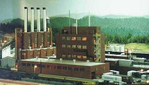 model of a viscose rayon plant