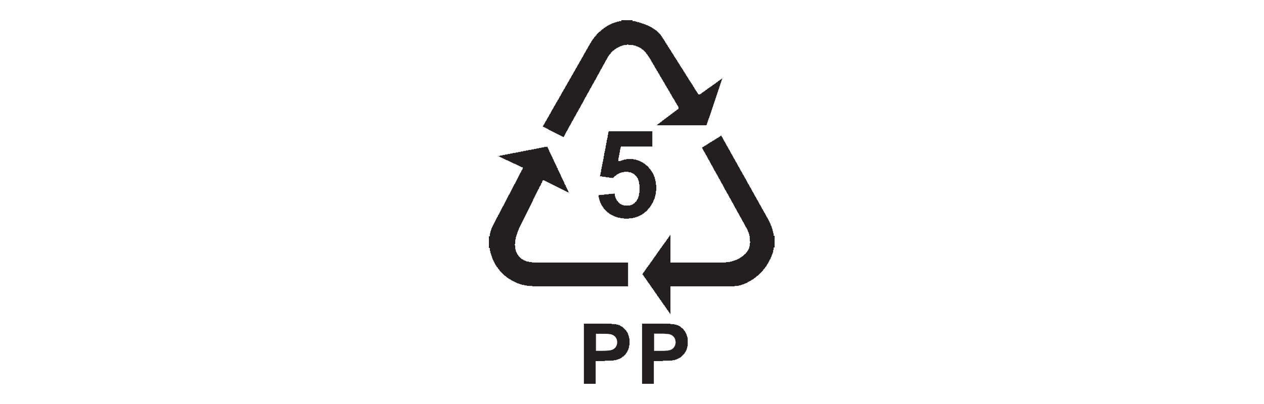 Recycling code 5 for Polypropylene
