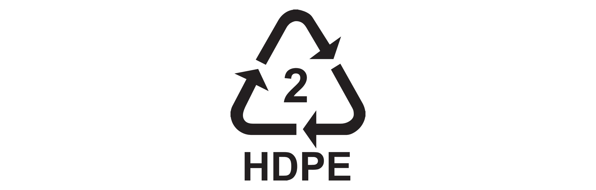 HDPE recycling code.