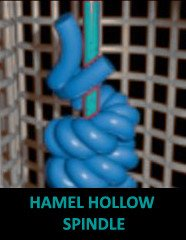 Hamel hollow spindle covered yarn