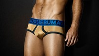 Aussiebum 24K real Gold underwear made by plasma Gold coated SwicoGold yarn