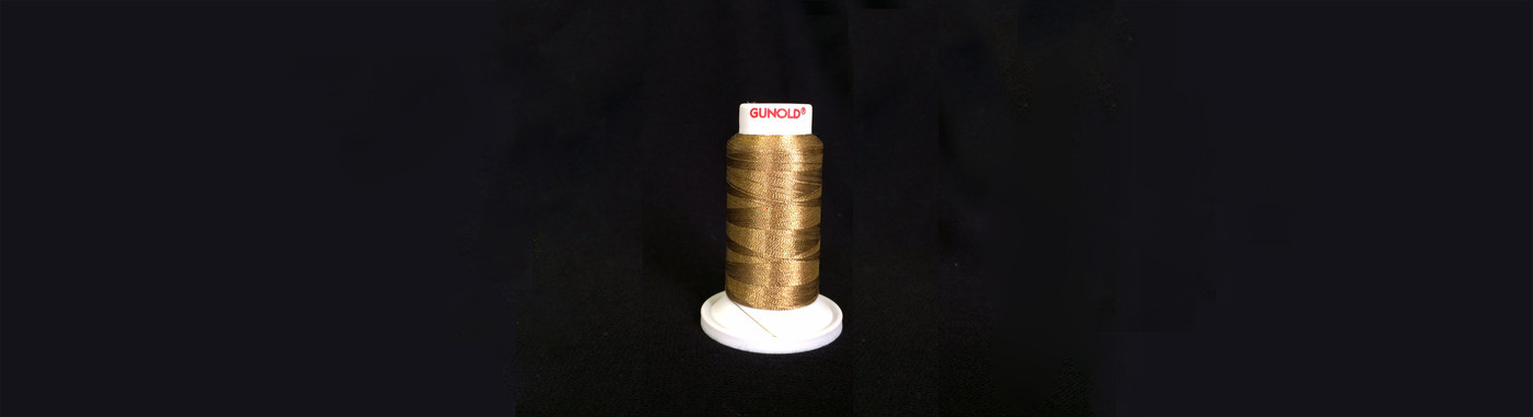 Plasma 24K Gold coated Polyester embroidery yarn available from stock service