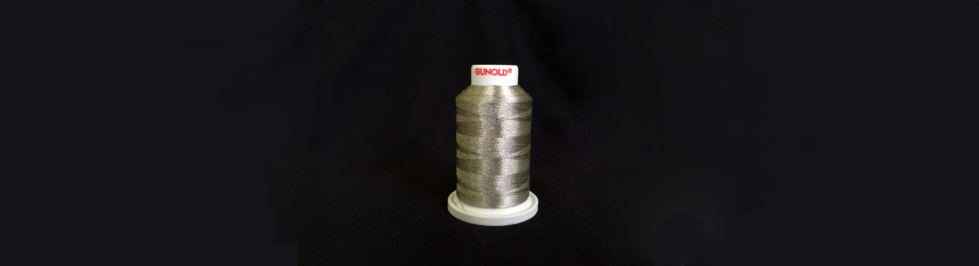 Plasma Silver coated Polyester embroidery yarn available from stock service